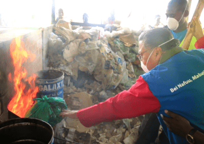 Dr. Manu Channdaria at the Community Cooker in Kariobangi